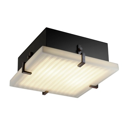 """Justice Design Group PNA-5557-WFAL Porcelina Collection Convertible 17"""" Wide Clips Flush-Mount Ceiling Fixture / Wall Sconce - image 1 of 1"""