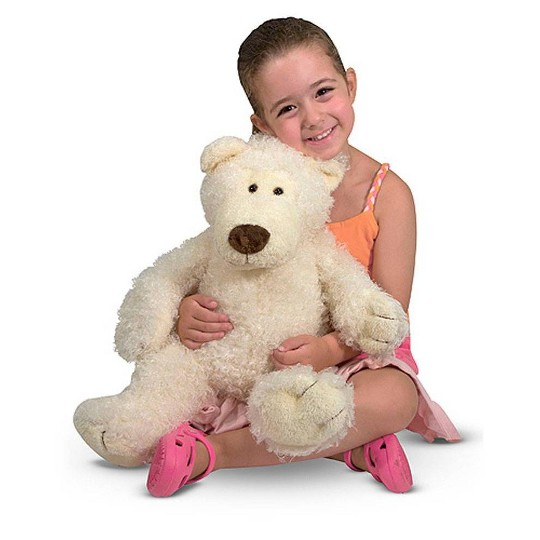 Melissa & Doug Big Roscoe Bear - White image number null