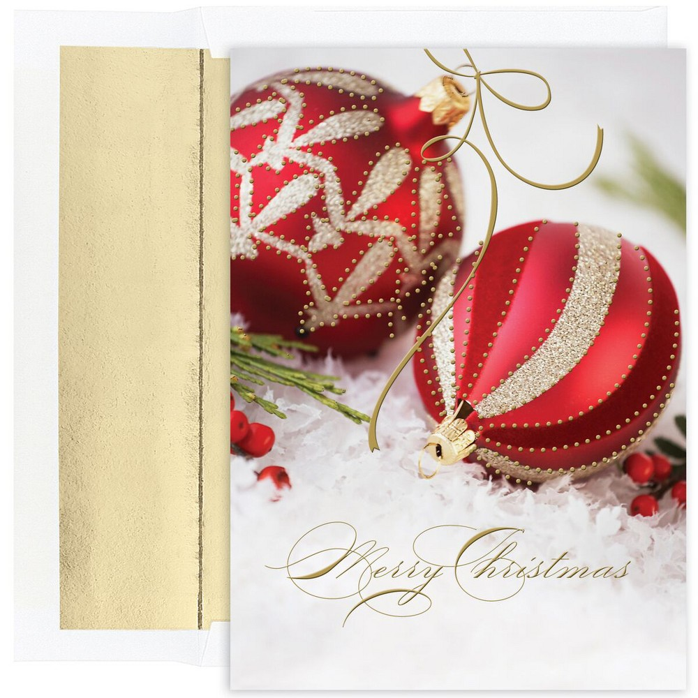 18ct Ornaments Cards Gold - Canopy Street
