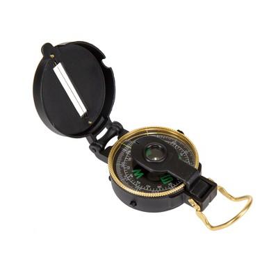 Stansport Metal Lensatic Compass Black