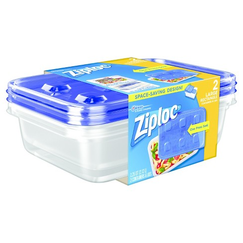 Ziploc Large Rectangle 2ct Containers Target