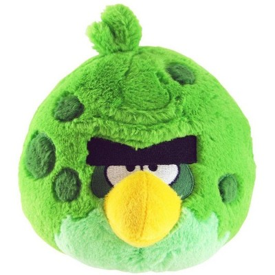 """Commonwealth Toys Angry Birds Green Space Bird 16"""" Plush"""