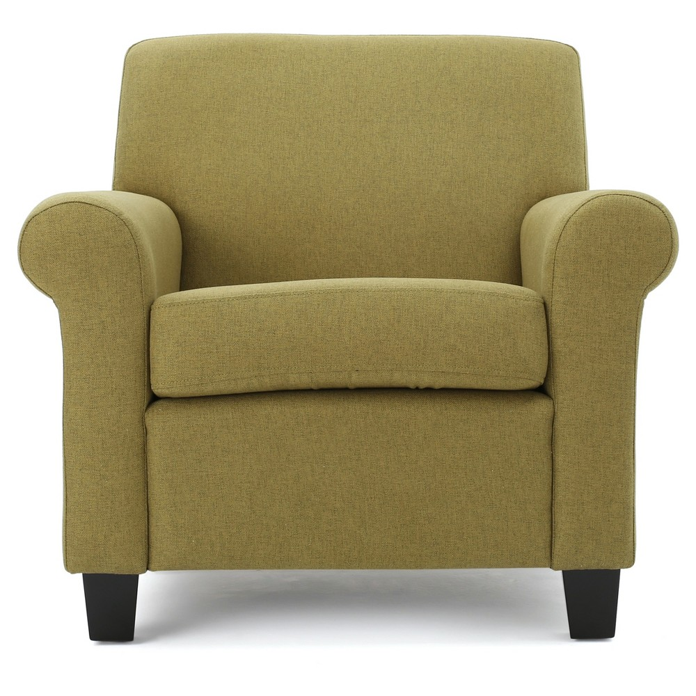 Yonkers Upholstered Club Chair - Light Green - Christopher Knight Home