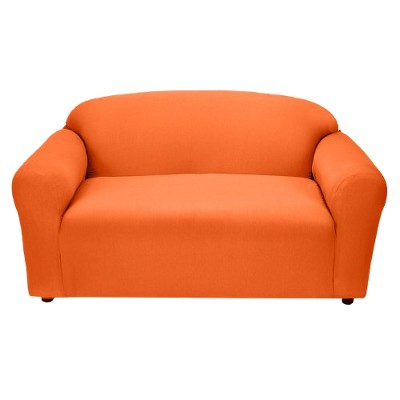 Tangerine Jersey Loveseat Slipcover - Madison Industries