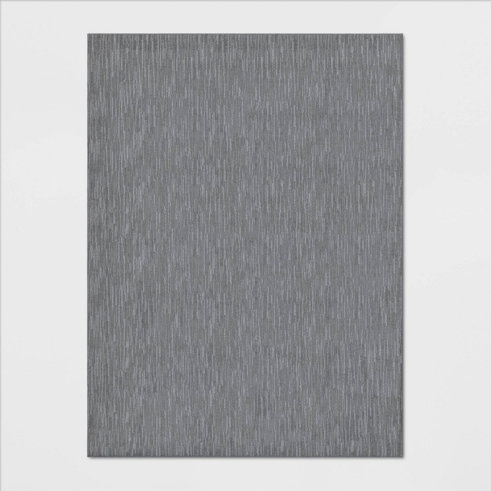 Image of 9'X12' Stripe Tufted Area Rug Gray - Made By Design