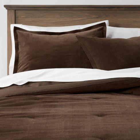 Cotton Velvet Comforter & Sham Set - Threshold™ - image 1 of 4