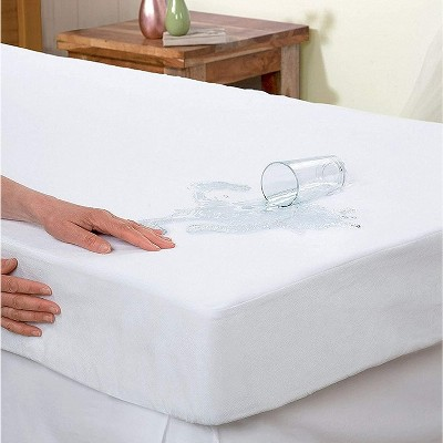 Elegant Comfort Hypoallergenic %100 Water-Proof Terry Cotton Mattress Protector Fitted Sheet Style.