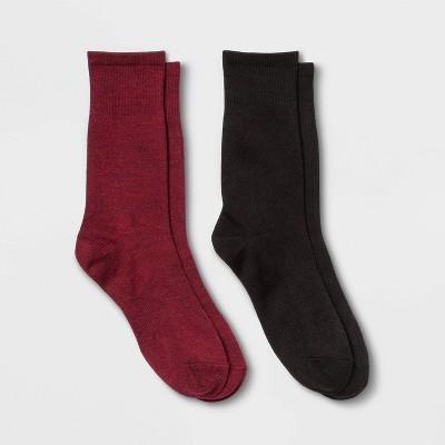 Women's Lightweight Outdoor Wool Blend 2pk Crew Socks - All in Motion™ 4-10