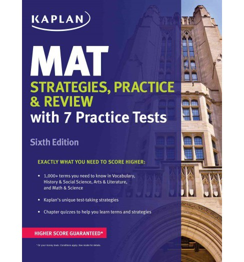MAT : Strategies, Practice, and Review (Paperback) - image 1 of 1