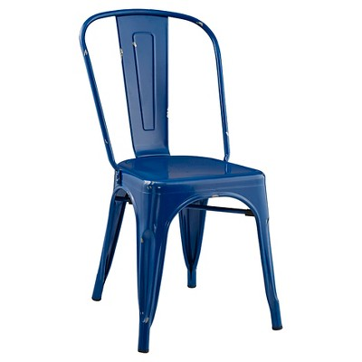 Stackable Metal Café Bistro Chair   Navy Blue   Saracina Home : Target