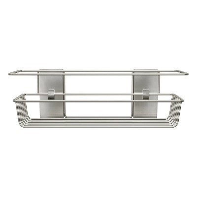 Command Metal Shower Caddy Satin Nickel