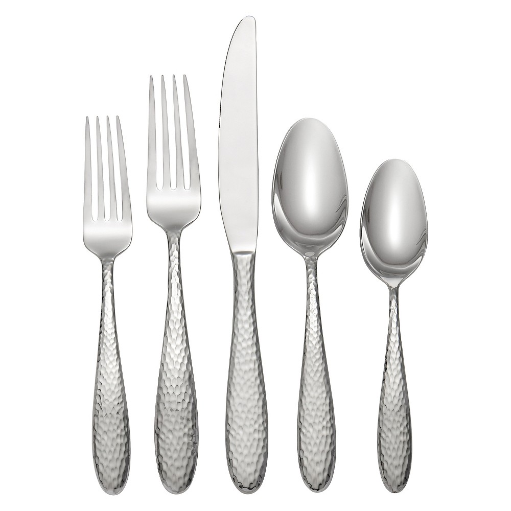 Image of Oneida Reyna 20 Piece Silverware Set - Silver