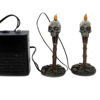 "Department 56 Accessory 4.0"" Lit Nightmares Halloween Accessory Skulls  -  Decorative Figurines"