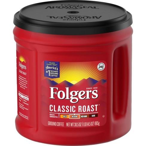 Folgers Classic Medium Roast Ground Coffee - 30.5oz - image 1 of 4