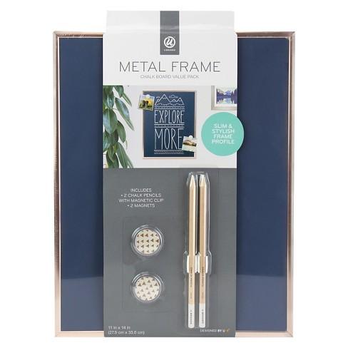 ubrands copper frame magnetic blue chalk board 11 x 14 target