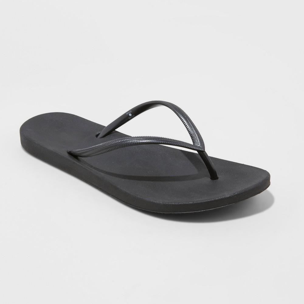 Women's Capri Flip Flop Sandals - Shade & Shore Black 5
