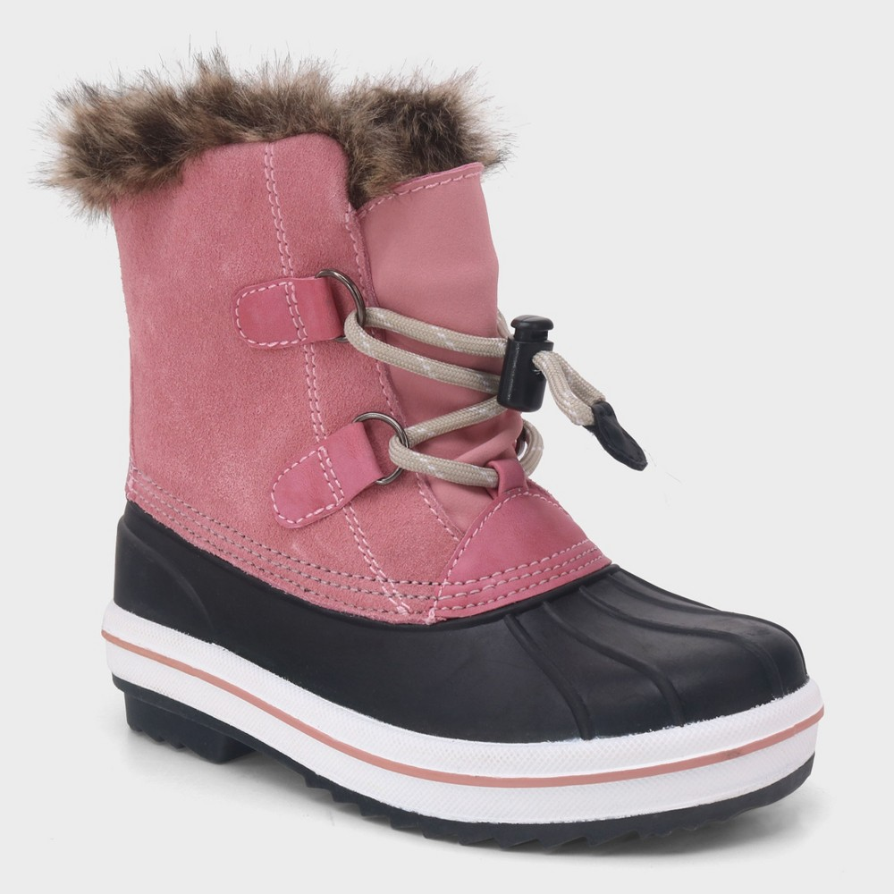 Girls' Araceli Short Suede Winter Boots - Cat & Jack Pink 13