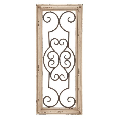 Wood with Metal Decorative Wall Panel 25 X 10 - Olivia & May