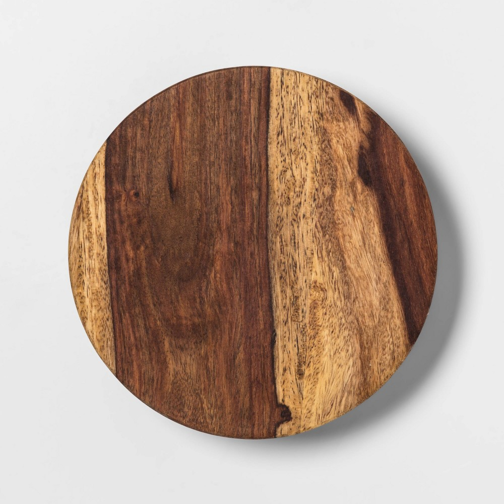 "Image of ""6"""" Sheesham Wood Trivet Natural - Threshold , White"""