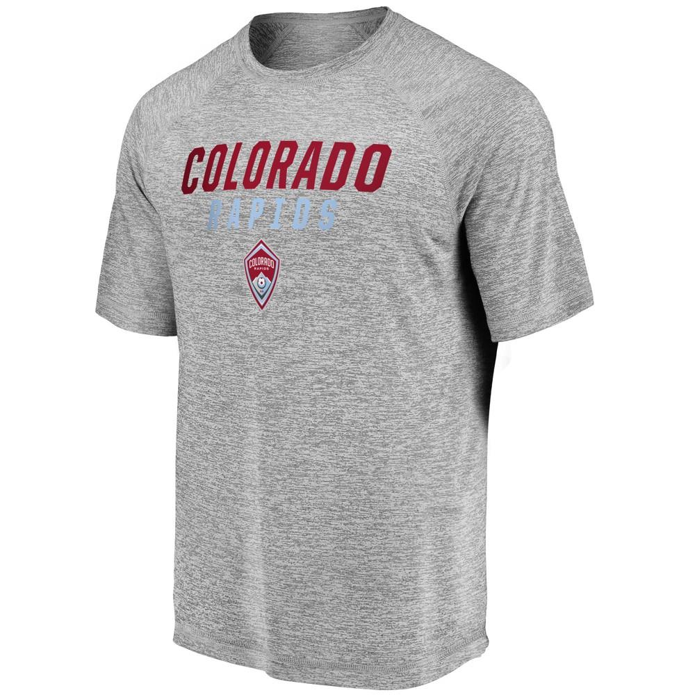Mls Men's Short Sleeve Gray Performance T-Shirt Colorado Rapids - Xxl