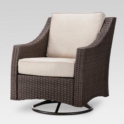 Belvedere Wicker Patio Swivel Club Chair   Threshold™
