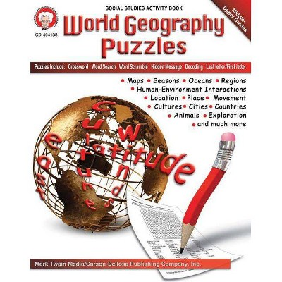 World Geography Puzzles, Grades 6 - 12 - (Paperback)