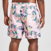 Men's Big & Tall Surfing Batman Board Shorts - Pink - image 2 of 3