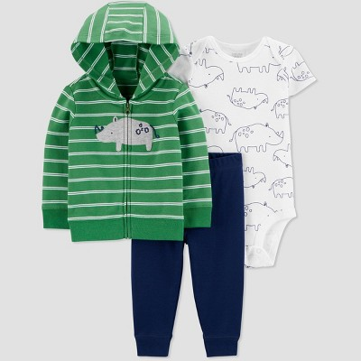 Baby Boys' South Rhino Top & Bottom Set - Just One You® made by carter's Green 12M