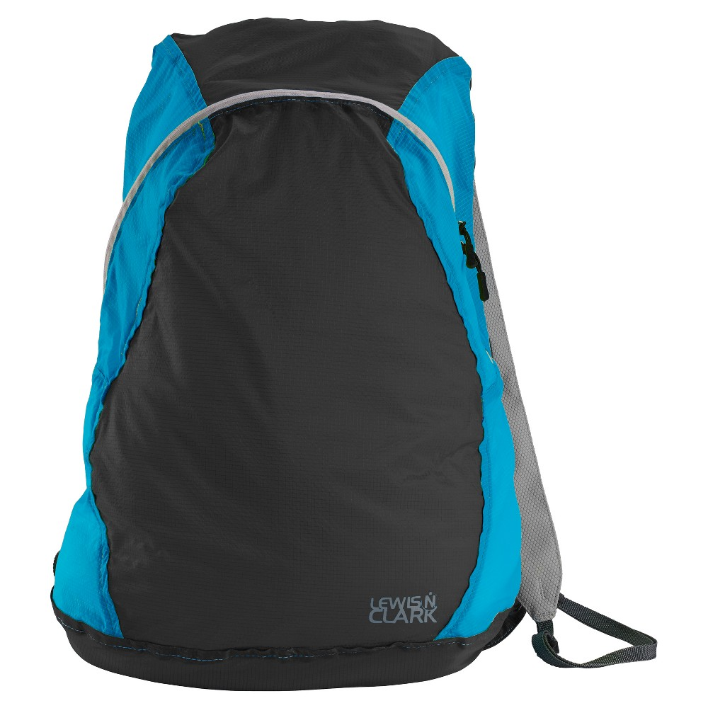 """Image of """"Lewis N. Clark Electrolight 17"""""""" Backpack - Charcoal/Bright Blue, Size: Small, Grey/Bright Blue"""""""