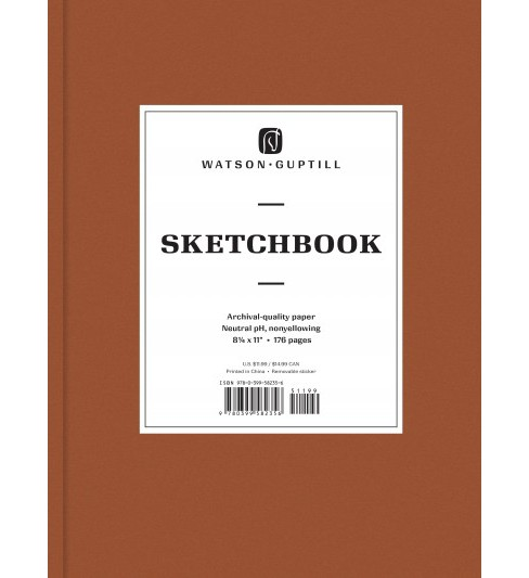Large Sketchbook : Brown Leather -  (Hardcover) - image 1 of 1