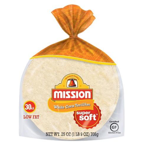 Mission Gluten Free White Corn Tortillas 25oz 30ct Target