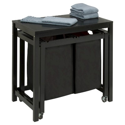 Honey-Can-Do Folding Table and Sorter - Black