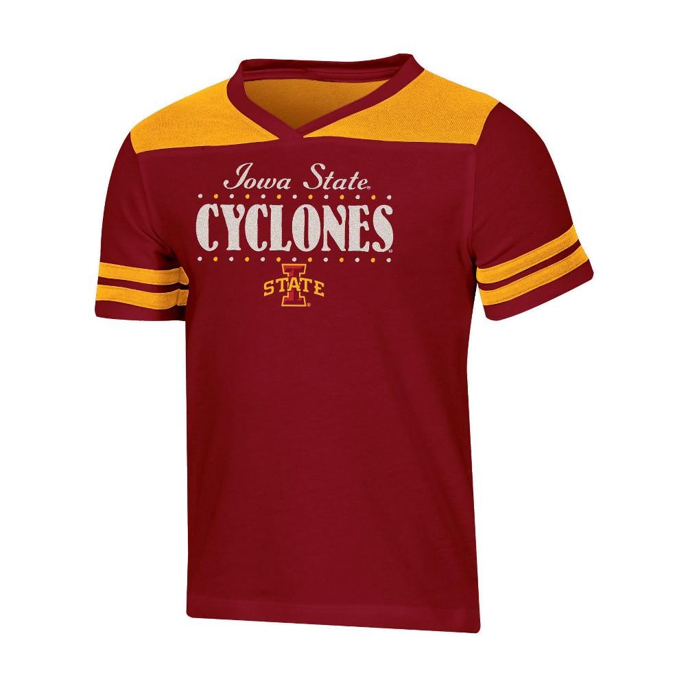 NCAA Girls' Heather Fashion T-Shirt Iowa State Cyclones - S, Multicolored