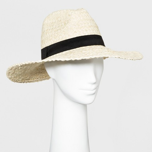 Women's Panama Hat - Universal Thread™ Natural - image 1 of 2
