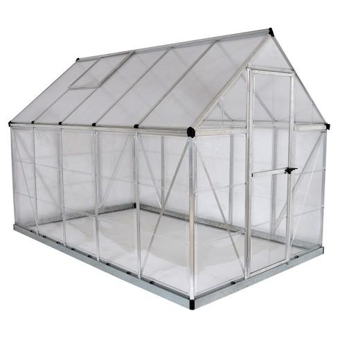 6\'X10 Hybrid Greenhouse - Silver - Palram : Target