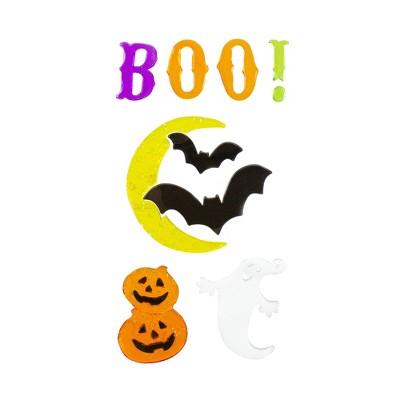 Northlight Moon and Bats Halloween Gel Window Clings