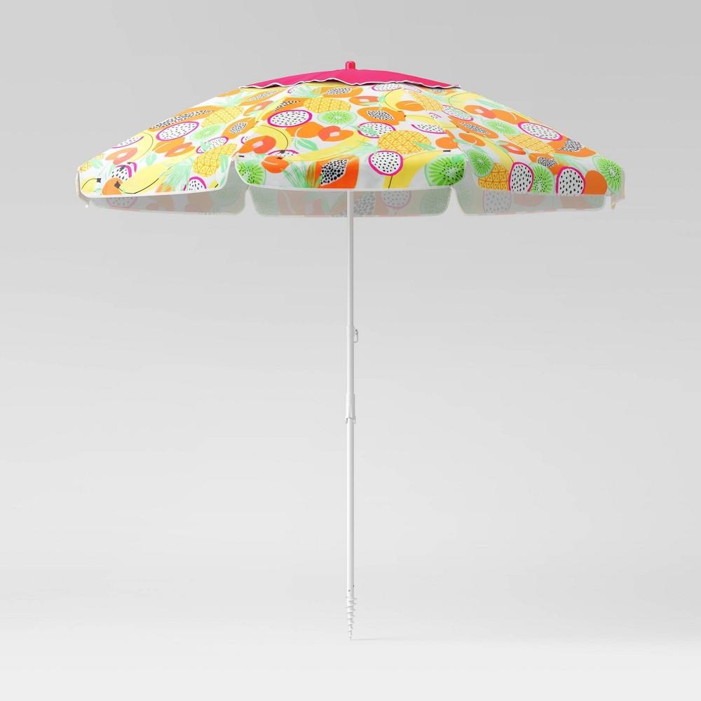 Promos 7' Beach Sand Umbrella - Fruit - Sun Squad™