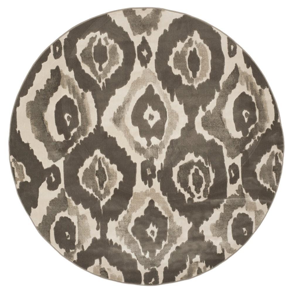 Sameh Area Rug - Ivory / Dark Gray ( 6' 7