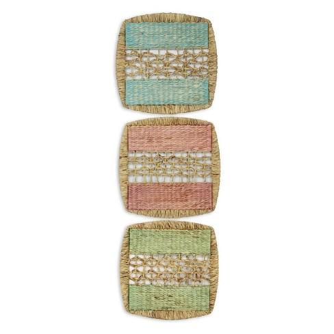 "19.7"" 3pc Seagrass Panels Decorative Wall Art - StyleCraft - image 1 of 1"