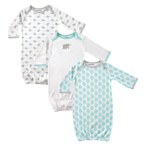 Luvable Friends Baby 3pk Elephant & Leaf Shaped Printed Sleeper Set - image 1 of 1