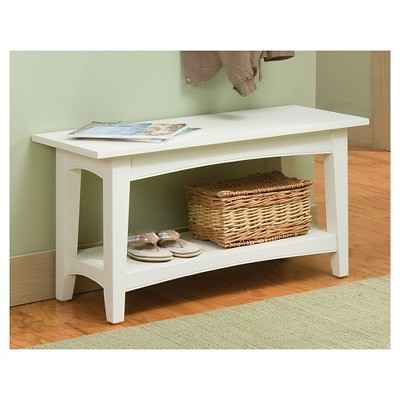 Cottage Bench with Shelf - Alaterre