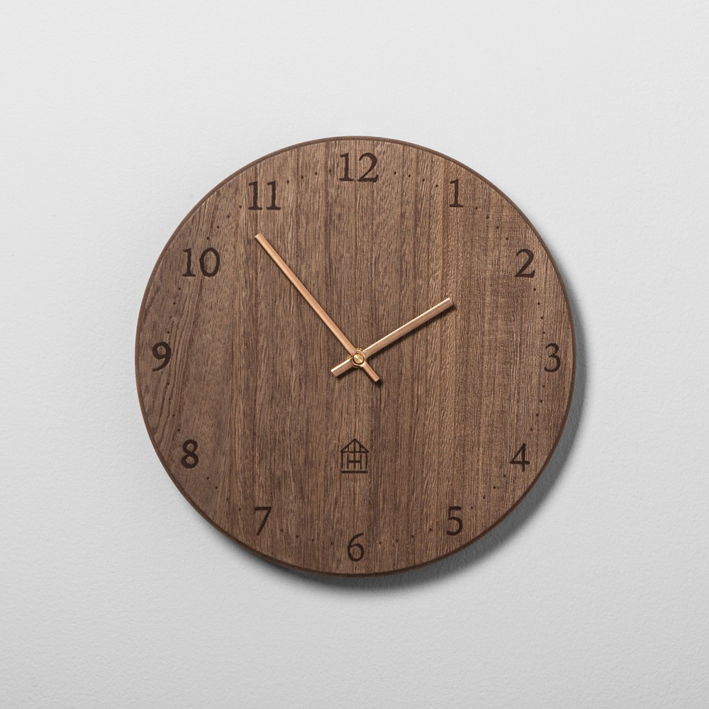 Round Wood Clock - Hearth & Hand with Magnolia
