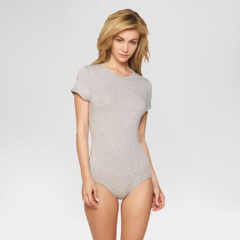 Jezebel® Women s Cotton Bodysuit - Heather Gray S   Target e49bc00a9