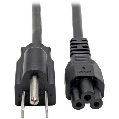 Tripp Lite 3ft Laptop / Notebook Power Cord Cable 5-15P to C5 10A 18AWG 3' - For Notebook - 18 Gauge - 125 V AC / 10 A - Black