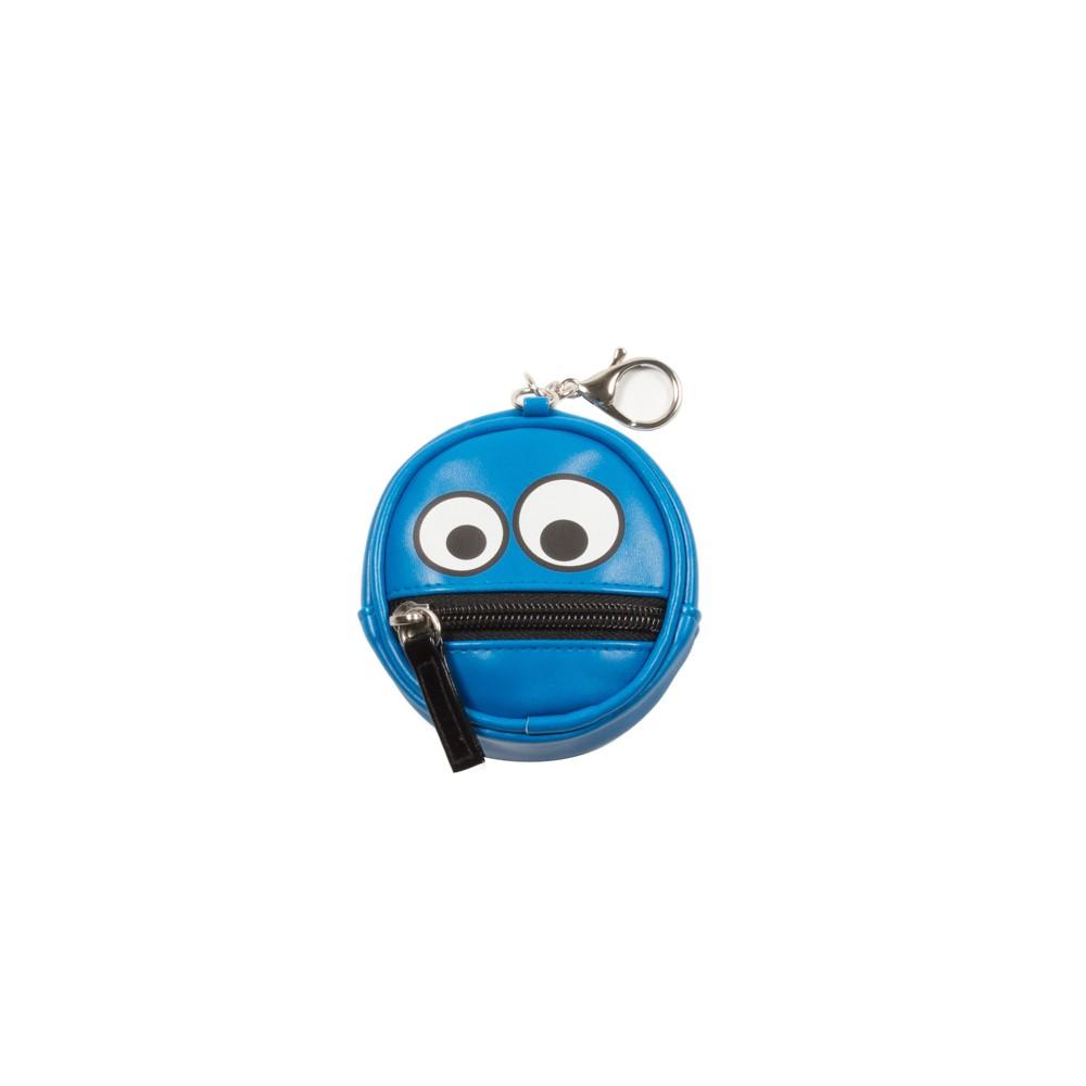 Coin Purse Keychain - Zipper Mouth, Women's, Blue