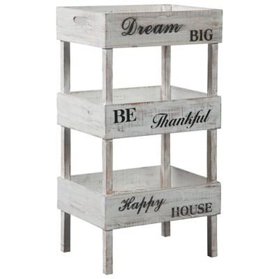 Yulton Storage Shelf Antique White - Signature Design by Ashley