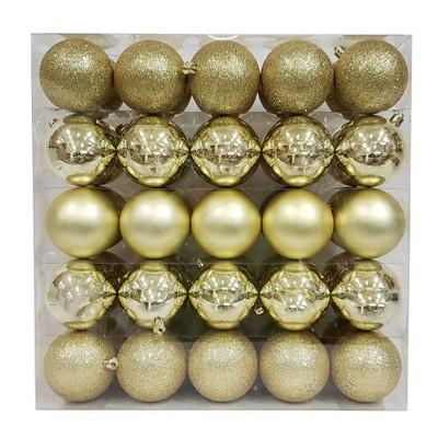 50ct Ornament Set 70mm Gold - Wondershop™