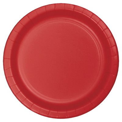 """Classic Red 9"""" Paper Plates - 24ct"""