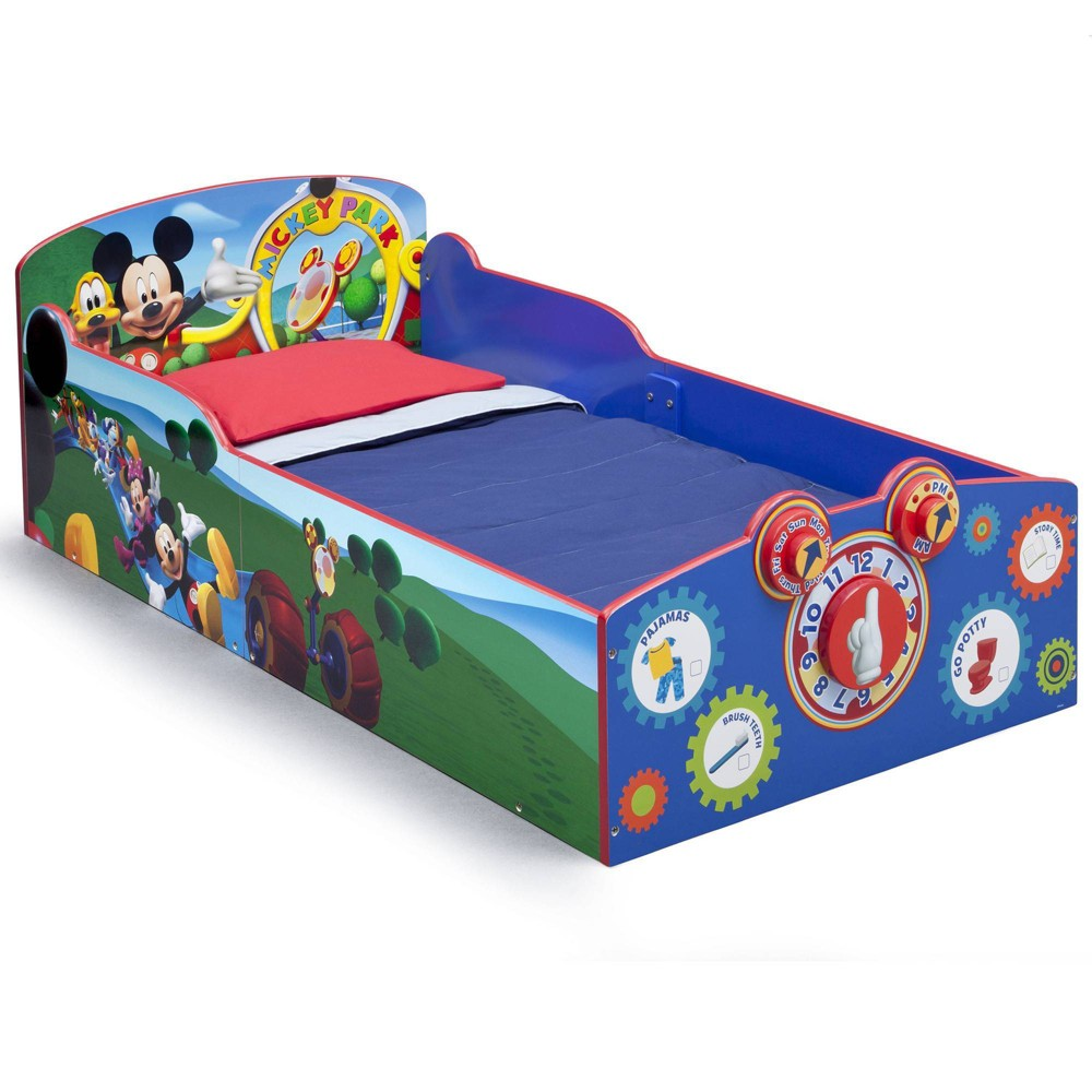 Image of Toddler Mickey Mouse Disney Interactive Wood Bed - Delta Children