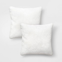 Faux Rabbit Fur Throw Pillow - Threshold™